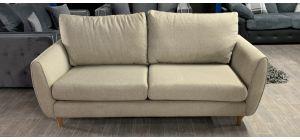 Fabric 3 Seater Beige Sofa Ex-Display Showroom Model Ex-Brighthouse Stock 46534