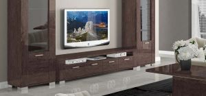 Prestige Warm Umber Birch Four Door TV Unit