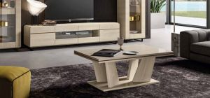 Perla White Larch Coffee Table