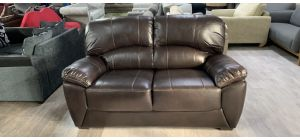 Brown 2 Seater Bonded Leather Sofa 46551