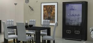 Armonia Diamond Black Lux With Prestige Logo Double Display Cabinet Assembled