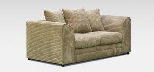 Dylan Fabric Sofa 2 Seater Coffee Jumbo Cord