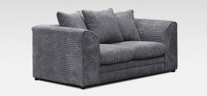 Dylan Fabric Sofa 2 Seater Grey Jumbo Cord