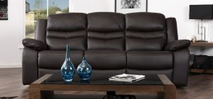 Contour Espresso Brown Electric Reclining 3 Seater Leather Sofa
