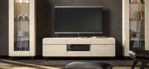 Perla White Larch Three Door TV Unit
