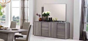 Futura Grey Sawmarked Oak Mirror
