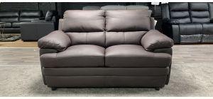 Brown Bonded Leather Regular Sofa Ex-Display Showroom Model 46848