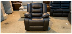 Roma Brown Bonded Leather Armchair Manual Recliner Ex-Display Showroom Model 47002
