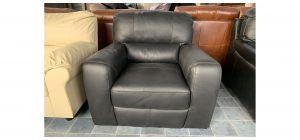 Lucca Black Leather Armchair Sisi Italia Semi-Aniline Ex-Display Showroom Model 47048
