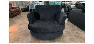 Large Black Fabric Swivel Chair Ex-Display Showroom Model 47072