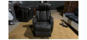 Brown Leather Rocker And Swivel Electric Recliner Armchair - No Power Pack - Few Small Scuffs (see images) Ex-Display Showroom Model 47139