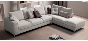 Albert Grey RHF Fabric Corner Sofa With Chrome Legs Newtrend Available In A Range Of Leathers And Colours 10 Yr Frame 10 Yr Pocket Sprung 5 Yr Foam Warranty