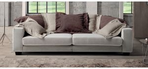 Easylounge Grey 4 Seater Fabric Sofa With Adjustable Seating And Wooden Legs Newtrend Available In A Range Of Leathers And Colours 10 Yr Frame 10 Yr Pocket Sprung 5 Yr Foam Warranty
