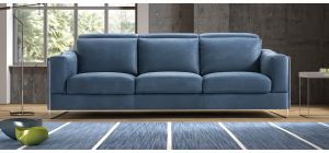 Ethan Blue Suede Electric 3 + 2 Adjustable Sofa Set With Chrome Legs Newtrend Available In A Range Of Leathers And Colours 10 Yr Frame 10 Yr Pocket Sprung 5 Yr Foam Warranty