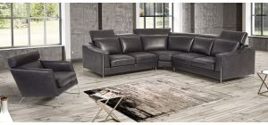 Ethan Black Suede 2c2 Corner Sofa And Armchair With Chrome Legs Newtrend Available In A Range Of Leathers And Colours 10 Yr Frame 10 Yr Pocket Sprung 5 Yr Foam Warranty