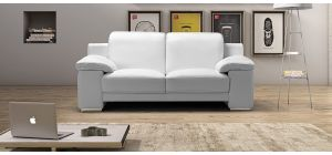 Evergreen White Leather 3 + 2 Sofa Set With Adjustable Headrests And Chrome Legs Newtrend Available In A Range Of Leathers And Colours 10 Yr Frame 10 Yr Pocket Sprung 5 Yr Foam Warranty