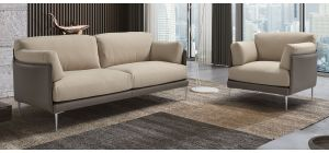 Hirondelle 3 + 1 Fabric Sofa Set With Chrome Legs Newtrend Available In A Range Of Leathers And Colours 10 Yr Frame 10 Yr Pocket Sprung 5 Yr Foam Warranty