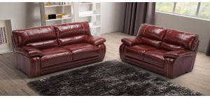 Antares Ox-Blood Leather 3 + 2 Sofa Set With Wooden Legs Newtrend Available In A Range Of Leathers And Colours 10 Yr Frame 10 Yr Pocket Sprung 5 Yr Foam Warranty