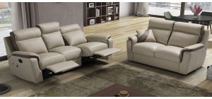 Device Cream Leather 3 + 2 Sofa Set Electric Recliner Newtrend Available In A Range Of Leathers And Colours 10 Yr Frame 10 Yr Pocket Sprung 5 Yr Foam Warranty