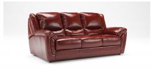 Fedra Ox-Blood Large Semi-Aniline Leather Sofa Bed Newtrend Available In A Range Of Leathers And Colours 10 Yr Frame 10 Yr Pocket Sprung 5 Yr Foam Warranty