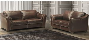 Piccadilly Light Brown Leather 3 + 2 Sofa Set With Wooden Legs Newtrend Available In A Range Of Leathers And Colours 10 Yr Frame 10 Yr Pocket Sprung 5 Yr Foam Warranty