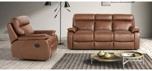 Savannah Brown Semi-Aniline Leather 3 + 1 Electric Recliners Newtrend Available In A Range Of Leathers And Colours 10 Yr Frame 10 Yr Pocket Sprung 5 Yr Foam Warranty