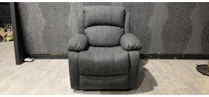 Grey Fabric Manual Recliner Armchair Ex-Display Showroom Model 47325