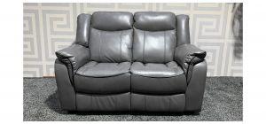 Brookyln Grey Static Bonded Leather Regular Sofa - Few Scuffs (see images) Ex-Display Showroom Model 47526