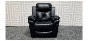 Gizelle Black Leathaire Armchair Manual Recliner Ex-Display Showroom Model 47649