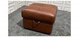 Sisi Italia Brown Storage Footstool Ex-Display Showroom Model 47783