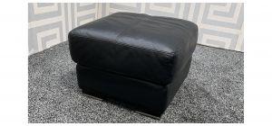 Black Sisi Italia Footstool With Wooden Legs - Ex-Display Showroom Model 47786