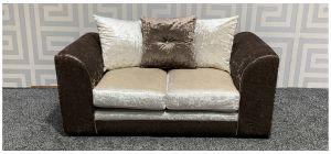 Arura Brown Regular Fabric Sofa With Scatter Back Ex-Display Showroom Model 47788