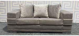 Kudos Grey Regular Velvet Fabric Sofa With Chrome Legs - Few Marks On Back (see images) Ex-Display Showroom Model 47790