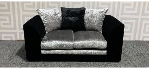 Arura Black And Silver Regular Fabric Sofa With Scatter Back Ex-Display Showroom Model 47808