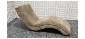 Beige Chaise Longue Fabric Sofa Ex-Display Showroom Model 47817