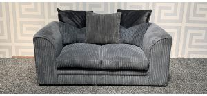 Dylan Grey Regular Jumbo Cord Fabric Sofa With Scatter Back - Mis-Match Back Cushions (see images) Ex-Display Showroom Model 47837