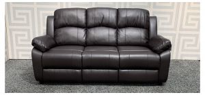 Katie Brown Bonded Leather Large Static Sofa Ex-Display Showroom Model 47854