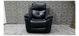 Gizelle Black Leathaire Armchair Manual Recliner Ex-Display Showroom Model 47868