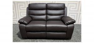 Brown Bonded Leather Regular Sofa Manual Recliner Ex-Display Showroom Model 47895