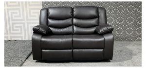 Roma Brown Bonded Leather Regular Sofa Manual Recliner Ex-Display Showroom Model 47967