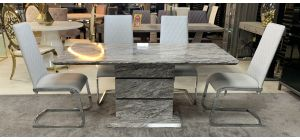 Marble 1.6m Dining Table Only (chairs available request price)