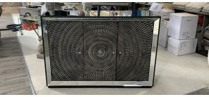 Mirrored 3 Dwr Sideboard - Scratch On Top And Chip On Corner Top(see Images) Ex-display Showroom Model