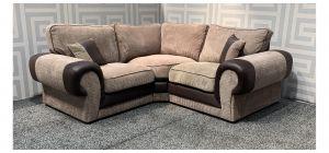 Tango Brown 1C1 Fabric Corner Sofa Ex-Display Showroom Model 48117