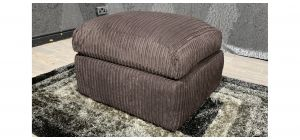 Brown Jumbo Cord Footstool Ex-Display Showroom Model 48215