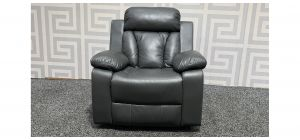 Somerton Grey Leathaire Manual Recliner With Contrast Stitching Rocking Chair Ex-Display Showroom Model 48280