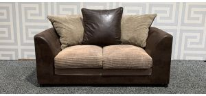 Dylan Brown Regular Fabric Sofa With Scatter Back Ex-Display Showroom Model 48292