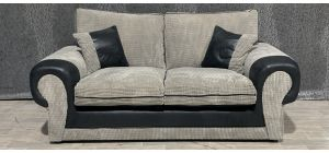 Tango Grey And Black Regular Fabric Sofa With Scatter Cushions Ex-Display Showroom Model 48314