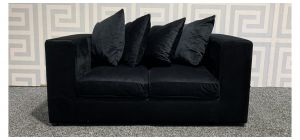 Nero Black Regular Fabric Sofa With Scatter Back Ex-Display Showroom Model 48324