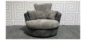 Grey Fabric Swivel Chair Ex-Display Showroom Model 48343