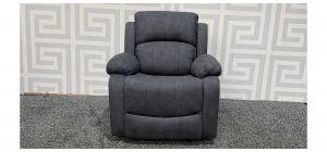 Alaska Grey Fabric Armchair Manual Recliner Ex-Display Showroom Model 48357